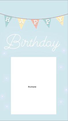 Happy Birthday Template, Happy Birthday Frame, Happy Birthday Wallpaper, Birthday Posts, Birthday Frames, Story Instagram, Instagram And Snapchat, Instagram Blog, Photo Instagram
