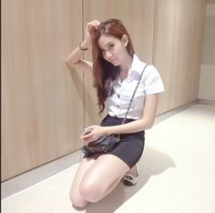 NEW A-LINE SHORT SKIRT BLACK CASUAL THAILAND STUDENT WOMEN UNIFORM 28 INCHES