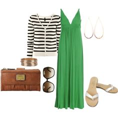 """""""green with navy and white stripes"""" by cheesemyhead on Polyvore"""