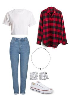 """""""3/31/18"""" by anjaofficial on Polyvore featuring Converse, Madewell, Hanes and ADORNIA"""