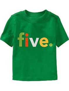 """""""Five"""" Graphic Tees for Baby"""
