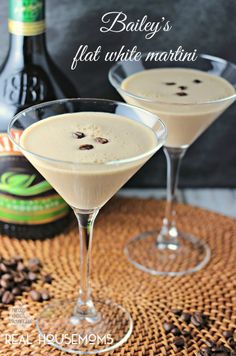 Bailey's Flat White Martini:  Australia meets Ireland in this fantastic drink