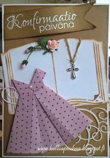 Hullua puuhaa vai vain Hullun puuhaa?: rippi/konfirmaatio Confirmation Cards, Clothes Hanger, Gift Wrapping, Handmade, Gifts, Coat Hanger, Gift Wrapping Paper, Hand Made, Presents