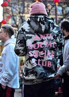 Camo Anti Social Social Club hint of pink