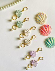 Clay Earrings, Flower Earrings, Pearl Earrings, Turquoise Flowers, Turquoise Beads, Handmade Necklaces, Handmade Jewelry, Bracelet Set, Mint Green