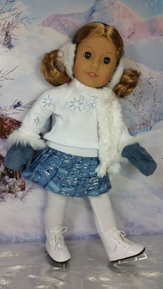 Winter skater - sewn by Shirley Fomby of Doll Clothes by Shirley SOLD