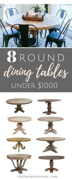 Fixer Upper round dining tables and where to find affordable options for under $1000   theharperhouse.com