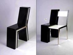 CADEIRA DE APOIO | com uma cadeira assim, você consegue economizar no espaço e esbanjar na criatividade! Que tal? #móveisversateis #inovação #criatividade #praticidade #Tecnisa Foto: Tahansen