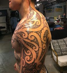 Ta moko reworked shoulder