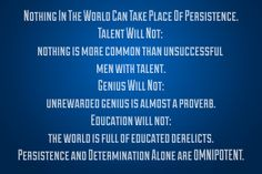 Persistence and Dete