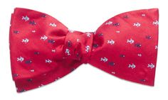 Fish Creek Red Bow Tie