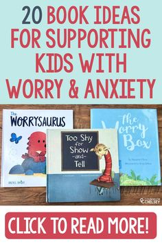 These worry and anxiety books for kids will help elementary students understand and cope with their worries. The 20 books are great for school counselors who are supporting anxious students in an individual, small group or classroom setting. They are split into categories of general anxiety, separation anxiety and testing or performance anxiety. Read through the list for great book recommendations for your school counseling library!