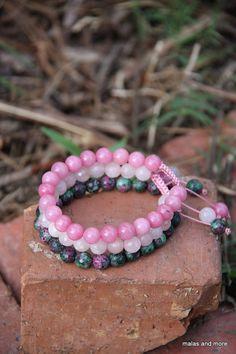 Anahata Stack (Heart Chakra) Meditation Inspired Yoga Beads via Etsy Heart Chakra Meditation, Handmade Bracelets, Handmade Gifts, Jewelry Knots, Yoga Bracelet, Buddhism, Jewelery, Diy Crafts, Inspired