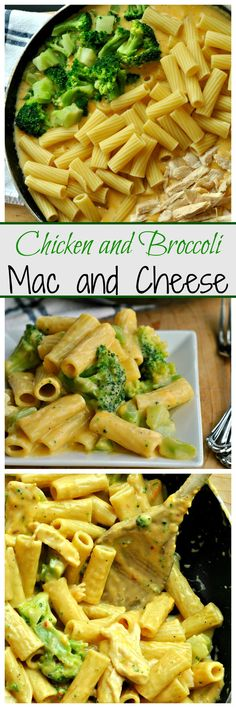 Creamy and supremely cheesy, Chicken and Broccoli Mac and Cheese can be put on your table in just 30 minutes! Chunks of chicken and broccoli jazz up this dinner-time favorite!