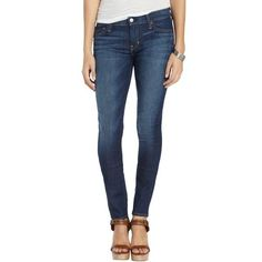 TEXTILE Elizabeth and James Wildflower wash stretch cotton 'Debbie'... ($116) ❤ liked on Polyvore featuring jeans, pants, wildflower, lightweight jeans, faded blue jeans, zipper jeans, 5 pocket jeans e denim skinny jeans