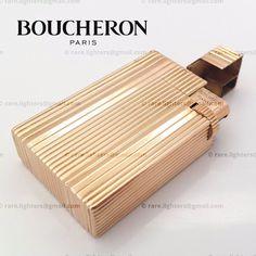 BOUCHERON Vendome Paris 18K 750 solid gold lighter, 1940's [SOLD]