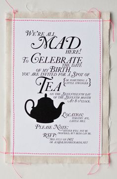 Super Punch: Tea Party Invitation