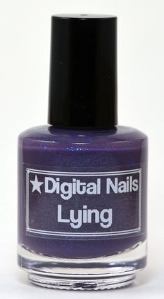 Lying: Digital Nails Saga inspired thermochromic teal to purple, color changing heat sensitive nail polish