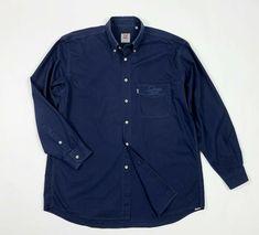 3e4958911e45ee Levis camicia uomo usato XL blu cotone used shirt manica lunga vintage  T5339 #levis #