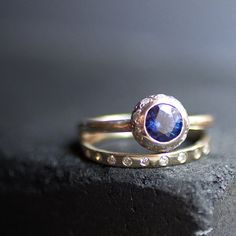 Vena Amoris Aliyah Sapphire &  diamond ring by tesiaalexandra,
