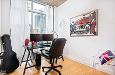 Chelsea Lofts-1375 Dupont St #207  | 2 bedroom, 2 bath corner loft with 9 ft high exposed concrete ceilings, exposed concrete columns, dual bright North and West corner exposures, laminate floors and open concept plan. 1 u/g parking included.| More info here: torontolofts.ca/chelsea-lofts-lofts-for-sale/1375-dupont-st-207 Concrete Column, Concrete Ceiling, Exposed Concrete, Loft Shop, Lofts, Laminate Flooring, Open Concept, Columns, Ceilings
