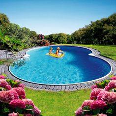 Oberirdischer Pool, Swimming Pools Backyard, Pool Water Features, Splish Splash, Garden Crafts, Architecture, Luxury Homes, Exterior, House Styles