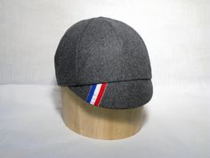 Cycling Cap // Premium Gray Wool With Racing by jbaileybrand, $40.00