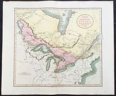 1811 John Cary Large Map Of The Great Lakes Great Lakes, Vintage World Maps