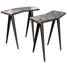 Pair Of Very Rare End Table By Gio Ponti For Fontana Arte 1938   From a unique collection of antique and modern end tables at http://www.1stdibs.com/furniture/tables/end-tables/