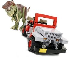Get yourself a limited edition Jurassic Park LEGO Jeep from Ichiban Toys. Jurassic Park Jeep, Lego Jurassic World, Lego Dinosaurus, Lego Tv, Lego Projects, Custom Lego, Cool Lego, Lego Building, Legoland