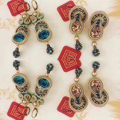 Dori's Elegance crystal earrings as seen on display at Bellezza Antiquity…