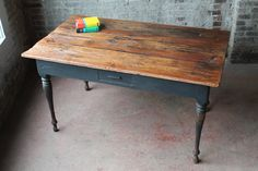 SALE Reclaimed Vintage Farm Table Dutch Dining Table Rustic Table Small Desk