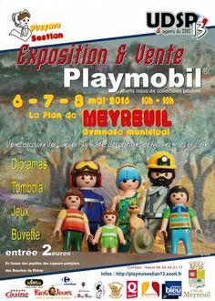 affiche Exposition/vente de Playmobil