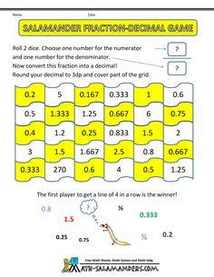 math fraction games salamander fraction decimal game
