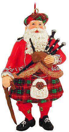 Scottish Santa Resin Ornament from Bronner's Christmas store of Christmas ornaments and Christmas lights Christmas In Scotland, Irish Christmas, Tartan Christmas, Cowboy Christmas, Christmas Store, Christmas Holidays, Christmas Crafts, Christmas Wishes, Christmas Trees