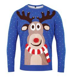 Novelty Reindeer Christmas Jumper by RekindledLove on Etsy Knitted Christmas Jumpers, Christmas Sweaters For Women, Christmas Knitting, Christmas Clothes, Wave Clothing, 3d Christmas, Womens Christmas, Xmas, Jumpers For Women