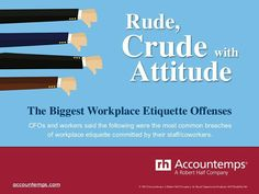 Crude, Rude with Attitude: The Biggest Workplace Etiquette Offenses