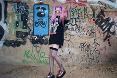 Vintage Jackie White Sunnies, Vintage Rammstein T Shirt, Leg Avenuve Industrial Net Thigh Highs, Demonia+Diy Creepers