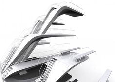 Diving boards like spines  London Aquatics Centre  Zaha Hadid Architects