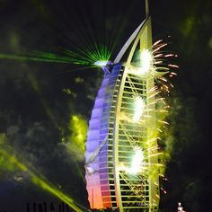 12/14 The Burj Al Arab lights for UAE 43rd National Day  PHOTO:  nadine.1