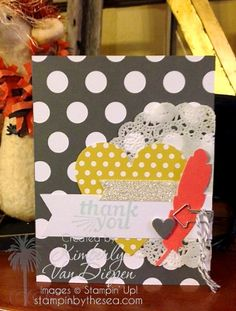 Everyday Occasions thank you card #handmade | www.stampinbythesea.com Kimberly Van Diepen, Stampin' Up!