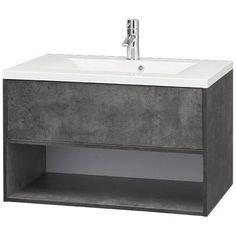 Allibert marny wastafelmeubel 80cm donker beton