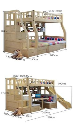 "See our internet site for even more relevant information on ""modern bunk beds for boys room"". It is an outstanding location to read more. Modern Bunk Beds, Cool Bunk Beds, Bunk Beds With Stairs, Kids Bunk Beds, Bed Storage, Storage Spaces, Extra Storage, Bunk Bed Designs, Bed Plans"