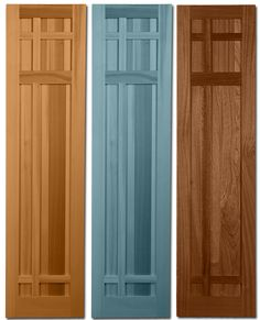 Flat Panel Shutters with Bead Trim, featuring a 20/40/40 split ...