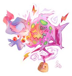 Misdreavus Pokeart spiritomb pokemon art vpdrawthread i love drawing misdreavus spiritomb was a first though! someone b my spiritomb mwah