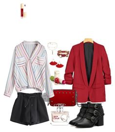 """""""RED"""" by cristina-paradela on Polyvore featuring Ettika, Alex and Ani and Oui"""