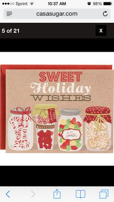 Sweets Holiday Cards from Paper Source Boxed Christmas Cards, Xmas Cards, Holiday Cards, Nordic Christmas, Christmas Time, Christmas Ideas, Christmas Candy, White Christmas, Holiday Wishes