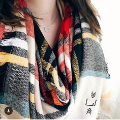 Blanket scarf perfectly monogrammed and tartan! Birthday Gifts For Best Friend, Best Friend Gifts, Gifts For My Girlfriend, Monogrammed Scarf, Bridesmaid Shirts, Plaid Blanket Scarf, Fall Scarves, Womens Scarves, Tartan
