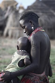 Toposa mother and child, Greater Kapoeta region of Eastern Equatoria State, South Sudan