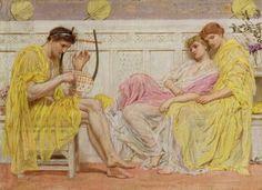 A Musician by Albert Joseph Moore